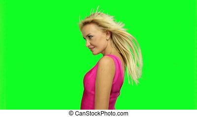femme, blonds, danse