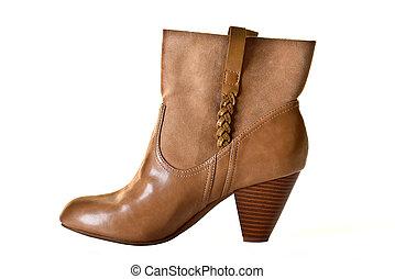 femme, bottes, mode