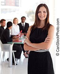 femme, business, éditorial