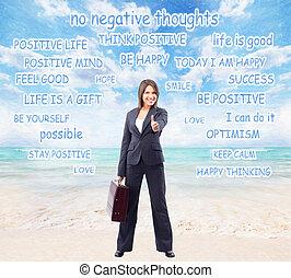 femme,  Business, heureux