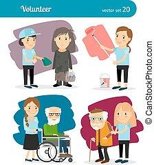 femme, caractères, volontaire