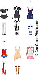 femme, carnaval, costumes