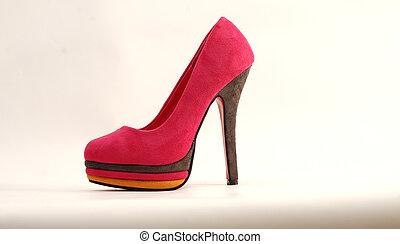 femme, chaussure