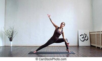 femme, class., lifestyle., light., jour, intérieur, sport, ...