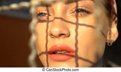 femme, closeup, beauté, figure