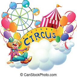 femme, clown, carnaval
