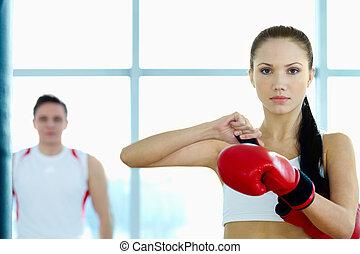 femme, combattant