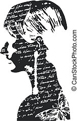femme, conception, illustration