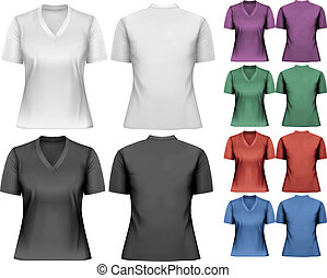 femme, conception, t-shirts., vector., template.