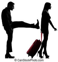 femme, couple, une, séparation, conflit, homme