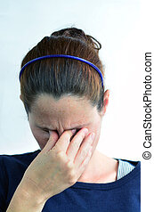 femme, déprimé