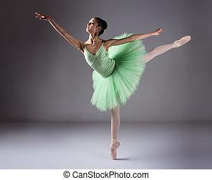 femme, danseur ballet