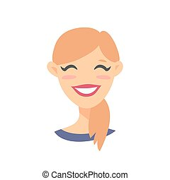 femme, dessin animé, caractères
