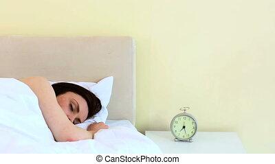 femme, dormir