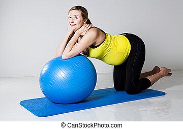 fitness femme exercisme balle pregnant noyau femme image recherchez photos clipart. Black Bedroom Furniture Sets. Home Design Ideas