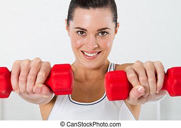 femme, exercisme, fitness