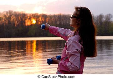 femme, exercisme, nature