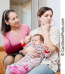 femme, famille, problèmes
