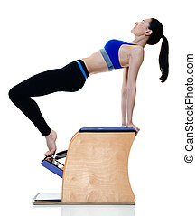 piloxing pilates boxe isol femme fitness caucasien piloxing femme boxe isol une. Black Bedroom Furniture Sets. Home Design Ideas