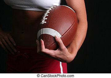 femme, football