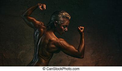 culturiste femme fort fitness corps femme haut culturiste muscles pompes fitness. Black Bedroom Furniture Sets. Home Design Ideas