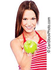 femme,  fruit