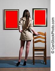 femme, galerie