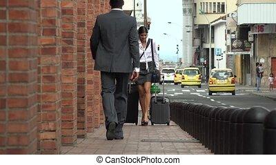 femme, hâte, business