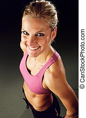 femme heureuse, fitness