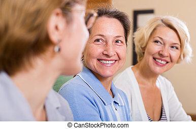 femme, heureux, retraités