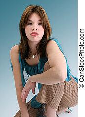 femme hispanique, adolescent