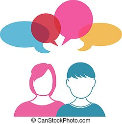 femme homme, conversation