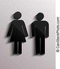 femme, homme, signe