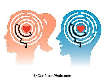 femme, homme, ton, aime automatiquement, head.