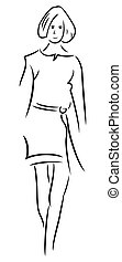 femme, illustration