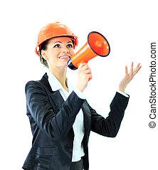 femme, ingénieur, business