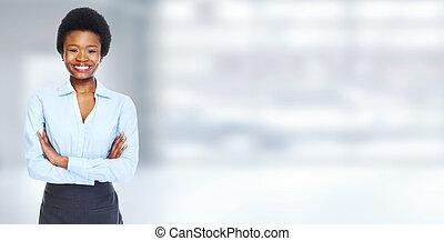 femme, jeune, business, africaine