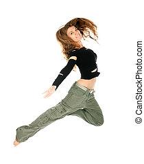 femme, jeune, danse