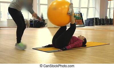 femme, jeune, exercice, fitness