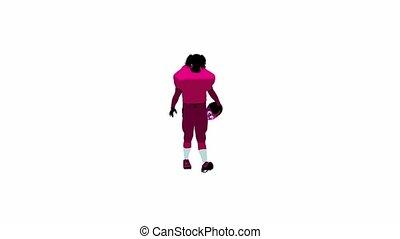 femme, joueur, football