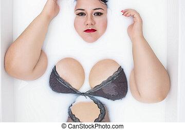 femme, lingerie, sensuelles