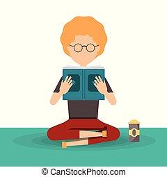 femme lisant livre