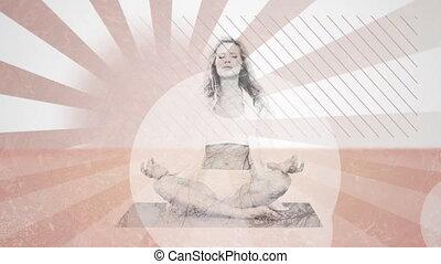 femme méditer