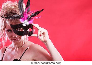 femme, mask., carnaval