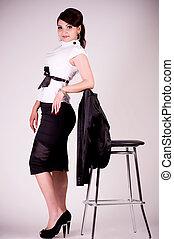 femme, mode, vêtements