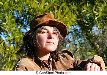 femme, nature
