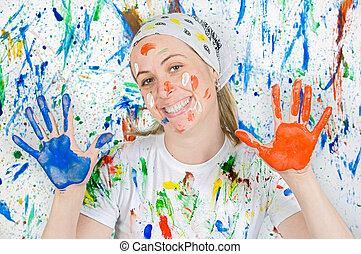 femme, peinture