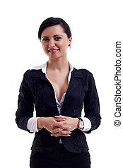 femme, positif, business