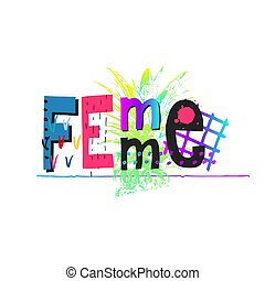 Femme power crown shirt quote lettering - Femme power crown ...