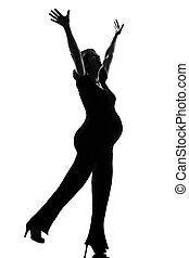 femme, pregnant, séance entraînement, pilates, fitness, heureux